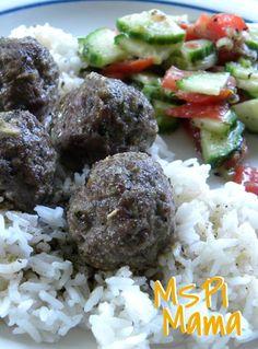 MSPI Mama: Greek Meatballs with Cucumber-Tomato Salad