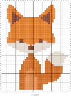 Fox cross stitch.
