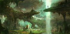 Softstone Falls by Griffin Hanzsek | Fantasy | 2D | CGSociety