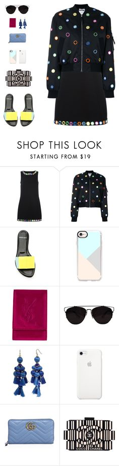"""Mirror Mirror II"" by sol4nge ❤ liked on Polyvore featuring Moschino, Pierre Hardy, Casetify, Yves Saint Laurent, Kate Spade, Gucci, Chanel, snowwhiteandthesevendwarfs and roadtrip"