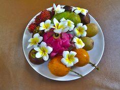Fruta y flores de la isla