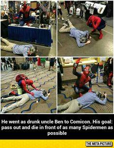 You could do that or go to a convention dressed as Mr and Mrs Wayne and faint and die in front of as many Batmans as you can