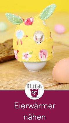 Sew egg warmers for Easter - free sewing pattern- Easter DIY: Sew egg warmers with rabbit ears. Perfect for Easter and as an Easter decoration. Sewing instructions with free sewing pattern from DIY owl. Crafts For Teens To Make, Diy For Teens, Diy And Crafts, Kids Crafts, Sewing Patterns Free, Free Sewing, Pattern Sewing, Free Pattern, Crochet Blanket Patterns