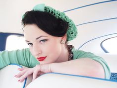 Vintage+Retro+Pinup+Hair+Snood+in+Mint+Green+by+ArtheliasAttic,+$25.00