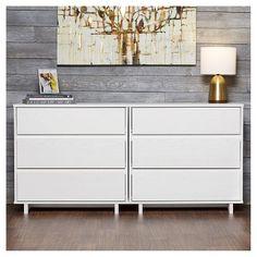 Modern 3 Drawer Dresser White - Room Essentials™ : Target