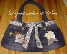 tuto couture jean recyclé + recyclage chemisier