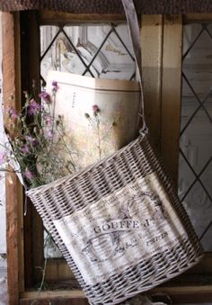 Bleached Willow Basket...