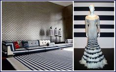 Guatier stripes in fashion and furniture