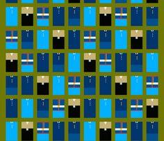 US Military Service Uniforms fabric by mongiesama on Spoonflower - custom fabric