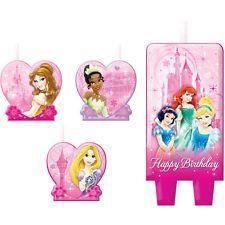 Disney Princess Candle Set Birthday girl Cupcake Cake Decorating Belle Ariel