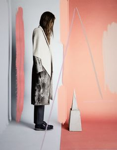 """Italian shoe label Tod's releases the fall 2013 campaign for """"No_Code."""" Photographer Sam Falls adds his own touch with colorful painting and digital manipulation."""