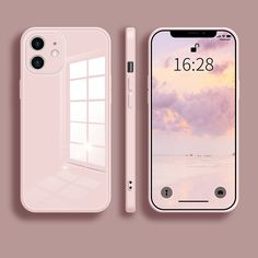 iPhone 12 Phone Case Tempered Glass Scratch-Resistant Back Cover Soft Frame Case