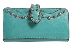 1e2777a8d919 LW170 - Malibu Teal Ladies Wallet - Double J Saddlery