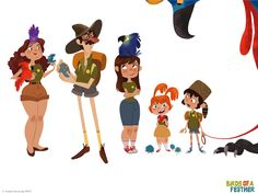 Birds of a feather by Andrea Fernandez  — Character design, drawing references for artists