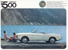 Fiat 1500 Cabriolet, 6 page folder, English language, # inside page Car Sales, On Today, Brochures, Fiat, English Language, Cars For Sale, The Twenties, Automobile, Racing