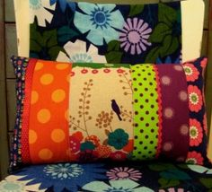 Scrap pillows...bolsters....