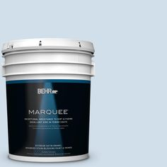 BEHR MARQUEE 5-gal. #M530-1 Ice Drop Satin Enamel Exterior Paint