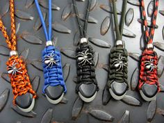 Items similar to Spider Knife Lanyard Colors! For Spyderco Knives or Tactical Gear - Use on Bags, Zipper Pulls, Camp Gear or as Key Fob - Made In The USA on Etsy Parachute Cord Crafts, Spyderco Knives, Paracord Projects, Bug Out Bag, Gears, Lanyards, Tactical Gear, Trending Outfits, Arsenal
