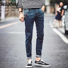 >> Click to Buy << HEE GRAND Men Pencil Jeans 2017 New Fashion Men's Spring & Autumn Youth Casual Basic Denim Jeans Male High Quality Pants MKN818 #Affiliate