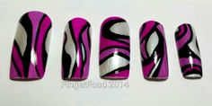 Hand Pucci inspired nails by FingerFoodNails on Etsy, £10.00