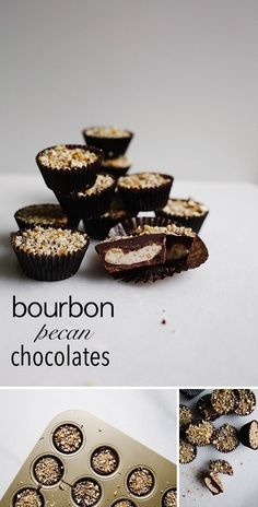 Recipes for homemade chocolates by The Wood and Spoon Blog. Peanut butter cups, bourbon pecan, and almond coconut chocolates. Each of these candy creations take less than 30 minutes to make and are an easy DIY to give as a holiday gift or Valentine's Day treat. These copycat Reese's, Almond Joy, and Bourbon Balls are simple candies that are crowd pleasers!