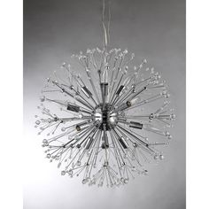Eupifinia 12-light Crystal 24-inch Spherical Chandelier