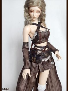 Brown steampunk explorer outfit for feeple65 girl by lelahel, €85.00