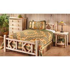 Castlecreek King Cedar Log Bed 235870 Bedroom Sets At Sportsman S Guide