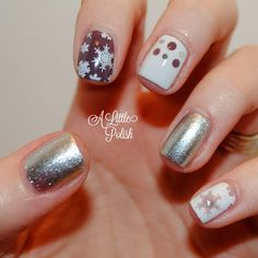 A Little Polish: Crumpet's Nail Tarts Christmas Winter Challenge - White Christmas