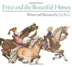 Fritz and the Beautiful Horses (Sandpiper Books) by Jan Brett http://www.amazon.com/dp/0395453569/ref=cm_sw_r_pi_dp_VNAlvb17455A1