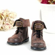 1/4 BJD Shoes Back Zip Ankle Boots Fit MSD DOD LUTS 010 - Brown by SuntekStore Online. $15.99. It is only a replacement product. Two separate leather strings with buckles add handsomeness. Come with zips at the back and shoestrings in the front. Fit for most Mini Super Dollfie and other dolls with similar size feet. Fashionable design and exquisite workmanship. This pair of BJD shoes are exquisite and fashionable, and perfectly fit for 1 / 4 MSD, DOD, LUTS and other...
