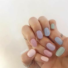 Simple Acrylic Nails, Best Acrylic Nails, Acrylic Nail Designs, Pastel Nails, Subtle Nails, Funky Nails, Acylic Nails, Kawaii Nails, Fire Nails