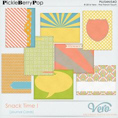 Snack Time ! [Journal Cards] By Vero