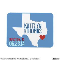 Texas Save the Date - Customizable City