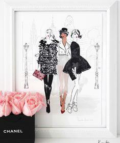New York Fashion Week Deux by Kerrie Hess – kerriehessstudio Megan Hess Illustration, Watercolor Illustration, Barbie Fashion Sketches, Online Art Courses, Kerrie Hess, Illustrators On Instagram, Australian Artists, Australian Fashion, Tiffany And Co