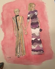 "10.1k Likes, 66 Comments - Busy Philipps (@busyphilipps) on Instagram: ""Thank you @sweetheartelegant for the very sweet watercolor of me and Michelle! I love it so much!…"""