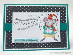 """Singende Maus zum Geburtstag """"Festtagsmäuse"""" """"Bannerweise Grüße"""" Stampin' Up…"""