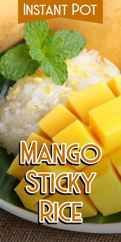 Instant Pot Mango Sticky Rice - Corrie Cooks - - Wanna make Instant Pot Mango Sticky Rice? My name is Corrie and I am here to help! Oh and I also have FREE pressure cooker recipes especially for you :). Coconut Sticky Rice, Sweet Sticky Rice, Sticky Rice Recipes, Mango Sticky Rice, Coconut Milk, Slow Cooker, Best Pressure Cooker Recipes, Instant Pot Pressure Cooker, Rice Desserts