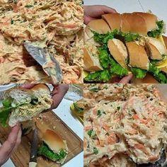 O Patê de Frango Para Sanduíche Natural é cremoso, delicioso e fácil de preparar. Ele é o patê de frango utilizado em sanduíches naturais e pães de metro das padarias e sempre faz o maior sucesso. Faça esse delicioso patê de frango para a sua família, a festinha ou para vender. Confira a receita! Cheese Appetizers, Appetizer Dips, Food N, Food And Drink, Sandwiches, Health Dinner, Carne, Meal Planning, Low Carb