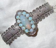 Vintage-Art-Deco-THEODOR-FAHRNER-OPAL-Sterling-Silver-Bracelet-Signed