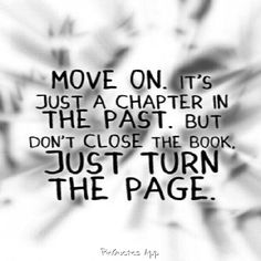 Sometimes a new chapter is a fresh start.