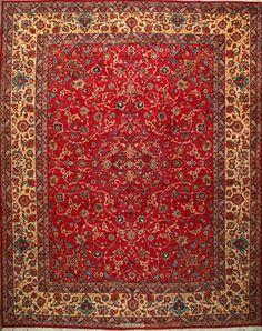 """Esfahan Persian Rug, Buy Handmade Esfahan Persian Rug 10' 2"""" x 12' 10"""", Authentic Persian Rug"""