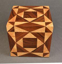 Tormenta en el mar de madera marquetería recuerdo por Quiltboxes