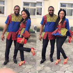 The most classic collection of beautiful traditional and ankara styles and designs for couples. These ankara styles collections are meant for beautiful African ankara couples Couples African Outfits, Couple Outfits, African Attire, African Wear, African Dress, African Style, African Fashion Designers, African Men Fashion, Africa Fashion
