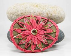 Irish Crochet Lace Stone Paperweight Country Cottage Collectible Heirloom Lace Rustic Lace Rustic Beach Cottage Natural Stone Decor Rock Art. $ 40.00, via Etsy.