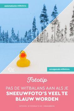 Worden je sneeuwfoto's veel te blauw? Pas dan de witbalans aan zodat de sneeuw weer wit wordt!   #fototip #fotobewerking #fotografietip #sneeuw #winter