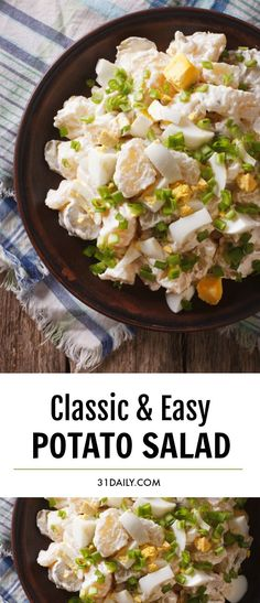 There is no substitute for a Classic Potato Salad. Especially when it's made in the style of grandma's potato salad. It's creamy, and sweet, and comforting... just a little bit addictive. Classic Potato Salad for Delicious Summer Cookouts | 31Daily.com #potatosalad #4thofJuly #summer #summersalads #saladrecipes #easyrecipes #31Daily