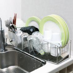 15cmのスキマに置ける水切り 通販 【ニッセン】 キッチン用品・調理器具 水切りかご(ラック)