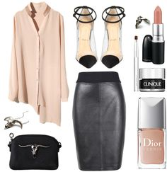 """""""the nude black."""" by goldiloxx ❤ liked on Polyvore"""