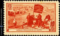 Temes-Asociación de Amigos de la Unión Soviética :: Segells del Pavelló de la República (Universitat de Barcelona)
